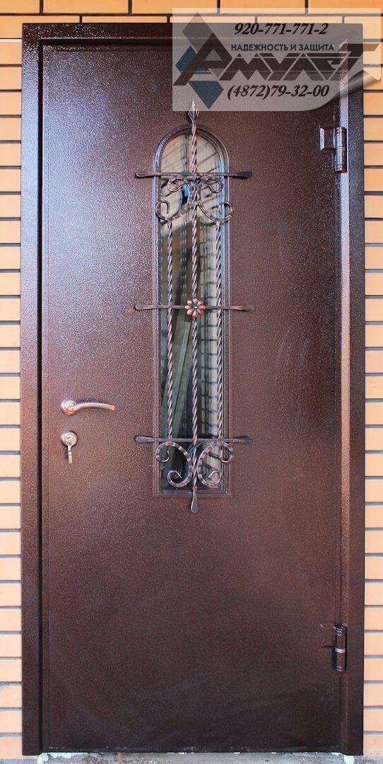 элитные входные двери с ковкой