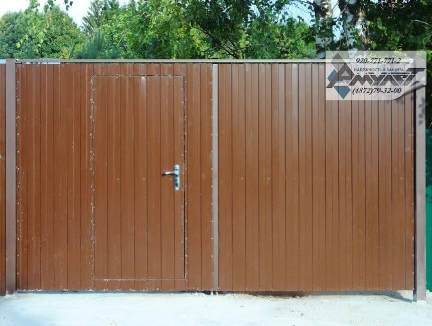 Въездные ворота для дачи своими руками 33