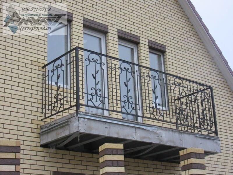 Кованые ограждения для балконов - заказать по низким ценам! .