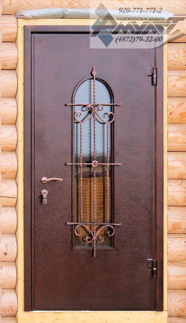 входные двери ковка внутри стеклопакета